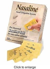 Squip Products Nasaline Salt Pre-Measured Packets - 50 Packets - Pack of 1