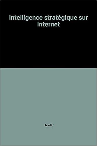 Livre gratuits Intelligence stratégique sur Internet pdf, epub