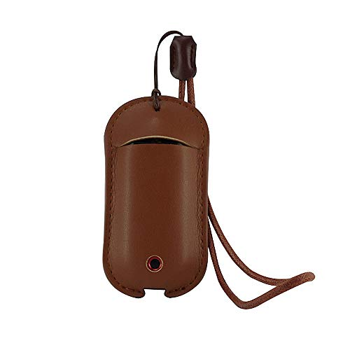 Vaporesso Renova Zero Pod Lanyard PU Leather Case Cover Sleeve Skin Pouch Carrying Bag Pocket Holder(Brown)