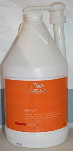 Wella Enrich Volumizing Shampoo for Fine to Normal Hair Gallon/128oz Includes Pump