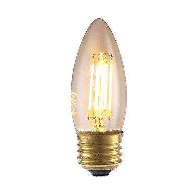 yyhaoge 1pieza 3,5 W 300LM E26 LED Bombillas de filamento B10 4 ledes COB regulable luces LED decorativas luz blanca cálida 2200 K AC 110 - 130 V: ...