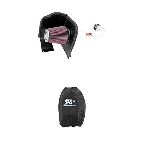 K&N 77-3082KP Performance Air Intake System with Black Air Filter Wrap