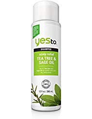 Yes To Naturals Tea Tree & Sage Oil Scalp Relief Shampoo, 12 Fluid Ounce