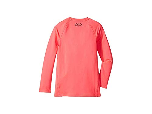 Under Armour Girls' ColdGear Crew Neck,Penta Pink (975)/Black, Youth X-Large