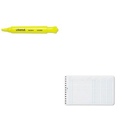 KITUNV08861WLJ75850 - Value Kit - Wilson Jones Extra Sheets for Six-Ring Ledger Binder (WLJ75850) and Universal Desk Highlighter (UNV08861) ()