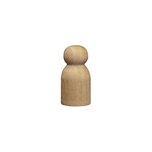 0.625 Baby Pin (Wood Doll Bodies - Little Baby / Game Pawn 1-1/8 inch - Bag of 100)