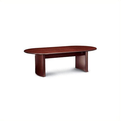 Global Total Office Racetrack 10' Conference Table with Curved Base - Mahogany