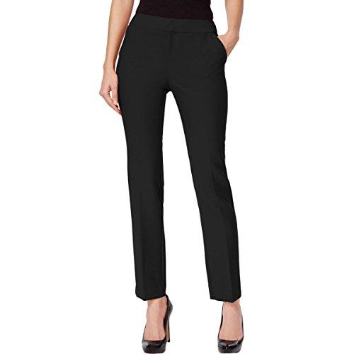 INC Womens Petites Straight Leg Dress Pants Black 4P