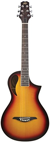 Peavey Composer Parlor Acoustic Guitar, 18 Frets, Eastern Mahogany Neck, Spruce Laminate Top, Rosewood Fingerboard, Sunburst