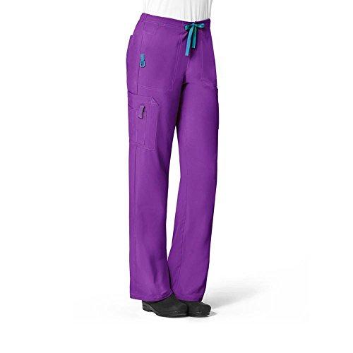 (Carhartt Scrubs C52110 Women's Force Cross-Flex Utility Boot Cut Scrub - Large Petite - Electric Violet)