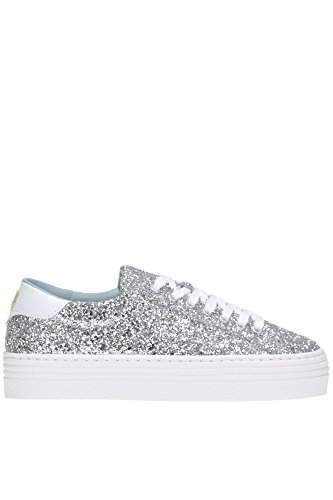 MCGLCAK04001I Silver Women's Ferragni Sneakers Chiara Glitter q8Un4Eqw