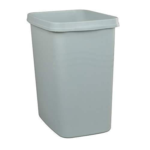 Anbers Deskside Plastic Wastebasket, 10 L Commercial Open Trash Can, F
