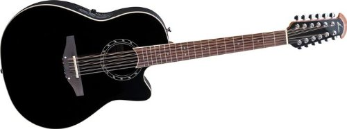 Ovation Standard Balladeer 2751AX 12-string Acoustic-electric Guitar, Black