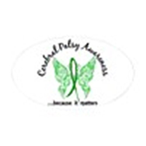 CafePress Cerebral Palsy Butterfly 6.1 Sticker (Oval) Oval