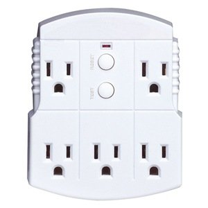 power first 11x433 gfci  5 outlet  white  auto reset