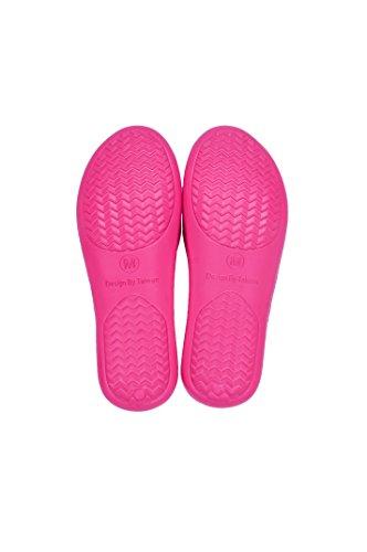 Taiwan Aanwezig Amzmax Antislip-slippers Voor Binnen, Zwembad En Badkamer, Roze, 2 Paar, Maat M