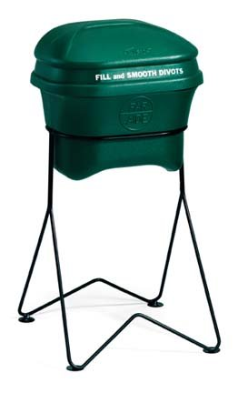 4 Gallon Divot Mate Divot Mix Container with Hard Surface Stand