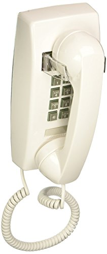 Cortelco 255415-VBA-20M  Single Line White Wall Telephone (Corded Phone Control Volume)