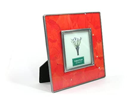 Amazon Silver J Pressed Flowers Photo Frame Handmade Picture