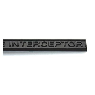 EmbRoom Police Interceptor Emblem, 3D Emblems Trunk Nameplate Badge Sticker Decal Replacement for Ford Explorer (1pcs Matte Black): Automotive