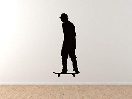 BYRON HOYLE Skateboard Trick #3- Skate Shop Art Flatland Rider Goofy Wall Vinyl Decal Home Decor