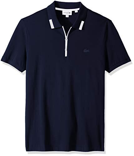 Lacoste Men's S/S Pique PIMA Ultra Leger Polo Slim FIT, Navy Blue, - Shirt Polo Mens Lacoste