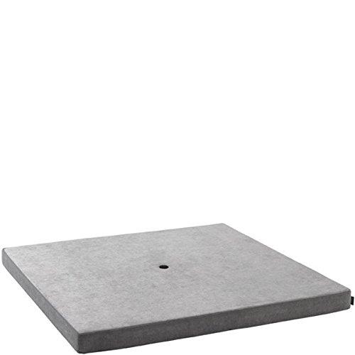 by Klipklap KK Square Velvet - Argent Velvet with dark grey button