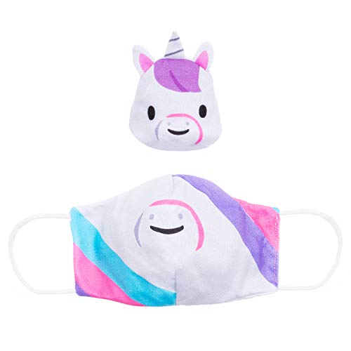 Cubcoats Kids Convertible 2-in-1 Face Mask and Wrist Band (Uki)