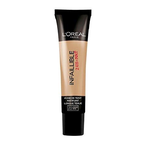 L'Oréal Paris Infaillible 24H Fond de Teint Matifiant 22 Beige Eclat 35ml