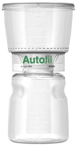 Autofil Sterile Disposable Vacuum Filter Units with 0.1um Mycoplasma Removal PES Membrane, 500mL, 12/CS by Foxx Life Sciences