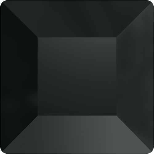 2400 Swarovski Flatback Crystals Non Hotfix Square/Cube | Jet Hematite | 4mm - Pack of 720 (Wholesale) | Small & Wholesale Packs