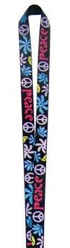 Glitter Peace Sign Lanyard 21