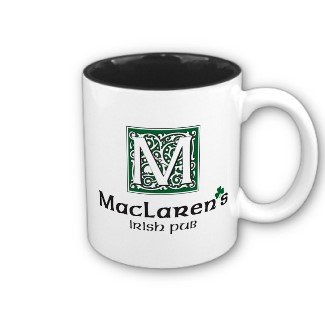 Click for larger image of How I Met Your Mother MacLarens Irish Pub Two Tone Mug
