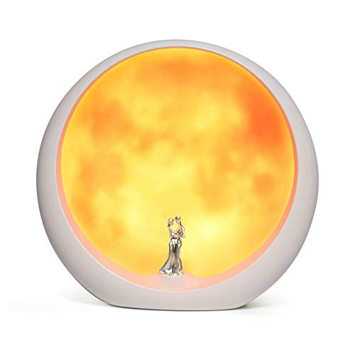 mamre Moon Mood Lamp Unique Anniversary Marriage Valentines Day Gift Ideas Art Decoration, White Holy Wedding Under Full Moon ()