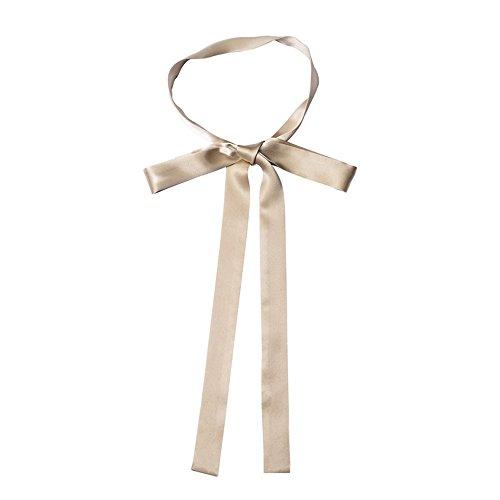 CHICOMP Chic Pure Silk Skinny Scarf/Choker Neck Scarf Tie/Silk Ribbon Sash/Wedding Sash Bridal Belt/Handbag Handle Ribbon for Women,Multi-Color (Silk Belt Scarf Sash)