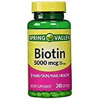 Spring Valley - Biotin 5000 mcg, 240 Softgels by Spring Valley