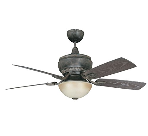 Concord 52BW5AP Ceiling Fans with Amber Glass Shades, Aged Pecan Finish