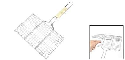 Amazon.com: eDealMax Artículos Para cocinar al aire Libre de Metal Herramientas de barbacoa de la comida campestre del rectángulo del asador cesta: Home & ...