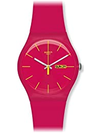 Swatch Women's SUOR704 Plastic Red Dial Watch