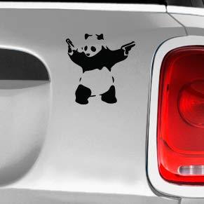 420 Friendly Decals Panda Guns Automotive Decal//Bumper Sticker
