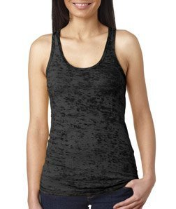 Next Level Ladies' Burnout Racerback Tank 2XL BLACK Cotton Baby Rib Racerback Tank