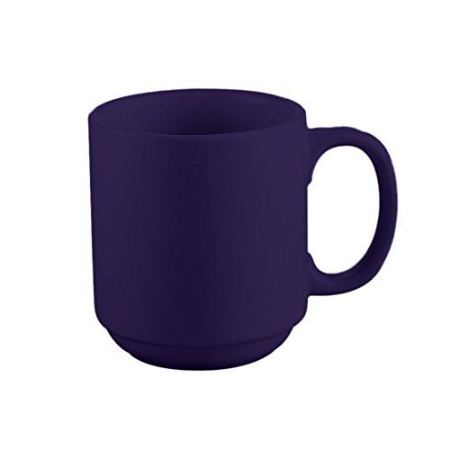 Stacking Mug Blue (CAC China PRM-12-CBU Venice 12-Ounce Cobalt Blue Stoneware Round Stacking Mug, 3-1/4 by 3-1/4 by 3-5/8-Inch, 36-Pack)