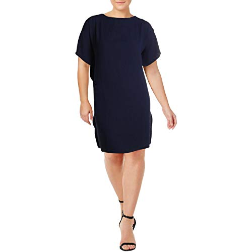 Anne Klein Women's Cascade Flutter Sleeve Dress, Eclipse, 4