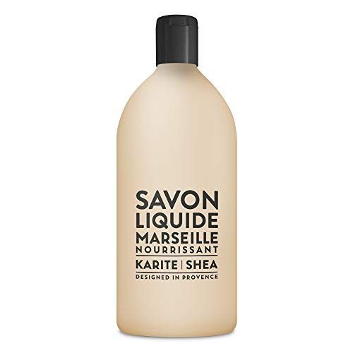 Compagnie de Provence Savon de Marseille Extra Pure Liquid Soap - Karite Shea Butter - 33.8 fl oz Plastic Bottle Refill