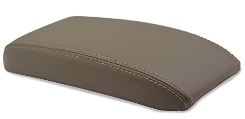 Autoguru Toyota 4Runner 96-02, Tacoma 95-00 Center Console Armrest Synthetic Leather Cover Dark Beige