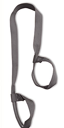 "Clever Yoga Mat Strap Sling Made with The Best, Durable Cotton - Comes with Our Special ""Namaste"" (Gray)"