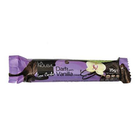 Barrita Low-Carb de Chocolate negro con vainilla La Nouba 35 g: Amazon.es: Alimentación y bebidas