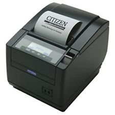 Citizen America CT-S651DC3RSUBKP CT-S651 Series POS Thermal Printer with PNE Sensor, Front Exit, RS-232C Serial Connection, Black