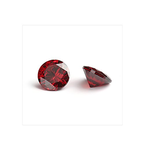 4mm Flawless Garnet Red Cubic Zirconia Stones Round Brilliant-Cut Cz Stone Settings - Cubic Zirconia Beads Wholesale