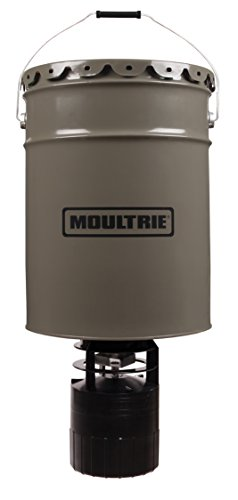 Moultrie Pro Hunter Hanging Deer Feeder | 6.5-Gallon | Pro Hunter Feeder Kit | 40 lb. Capacity Pro Hunter Hanging